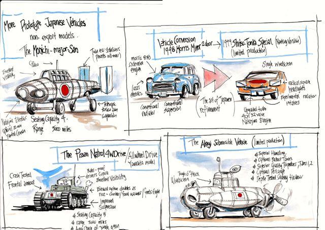 ira illustrations japanese cars 2