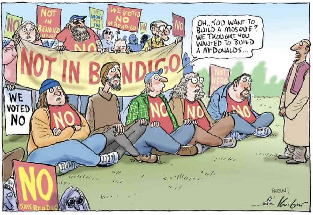 Bendigo cartoon