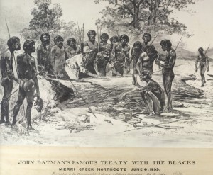 1835 20 John Batman meets Aborigines.jpg | East Melbourne Historical Society